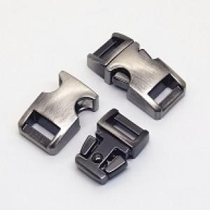 Mat zilver metalen buckle 3/8 (S)