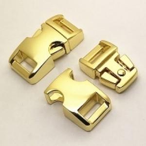 Glanzend gouden metalen buckle 3/8 (S)