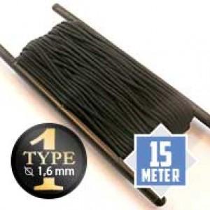 Black type I paracord Ø 2mm (15m)