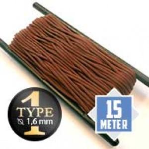 Chocolate type I paracord Ø 2mm (15m)