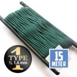 Emerald Green type I paracord Ø 2mm (15m)