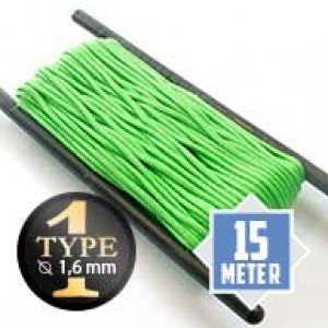 Neon green type I paracord Ø 2mm (15m)