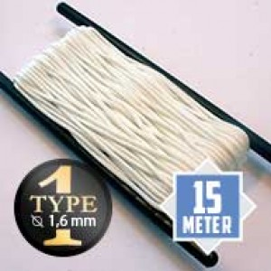 White type I paracord Ø 2mm (15m)