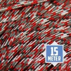 Red Camo Paracord 550 type 3 Ø 4mm (15m)
