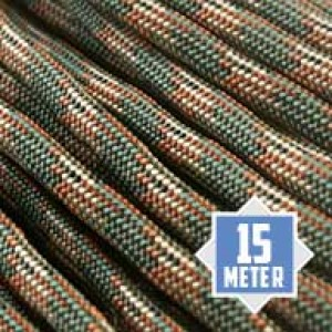 Paracord 550 Woodland 15 meter