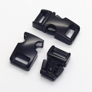 Mat zwarte metalen buckle 5/8 (M)