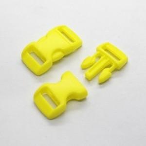 Gele kunststof buckle 3/8 (S)