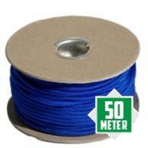 Electric Blue spoeltje Paracord 550 type 3 Ø 4mm (50m)