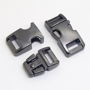 Gunmetal black metalen buckle 3/8 (S)