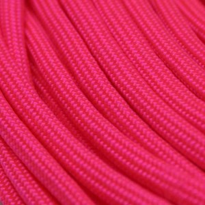 Neon Pink 550 type 3 paracord Ø 4mm (15m)