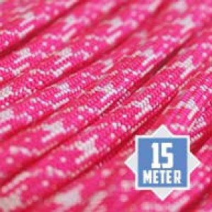 Neon White Pink Camo 550 type 3 paracord Ø 4mm (15m)