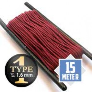 Burgundy type I paracord Ø 2mm (15m)