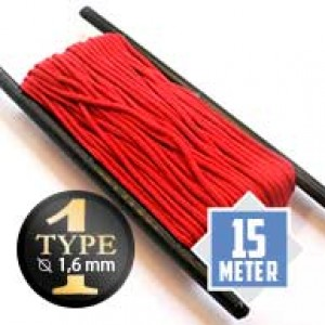 Imperial red type I paracord Ø 2mm (15m)