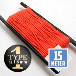 Neon orange type I paracord Ø 2mm (15m)
