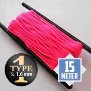 Neon pink type I paracord Ø 2mm (15m)