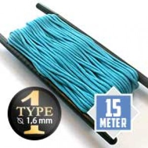 Neon turquoise type I paracord Ø 2mm (15m)