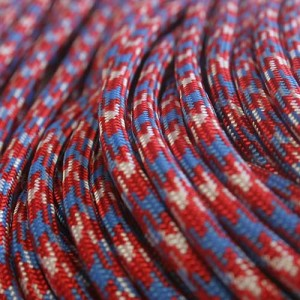 Red White Blue Camo 550 type 3 paracord Ø 4mm (15m)